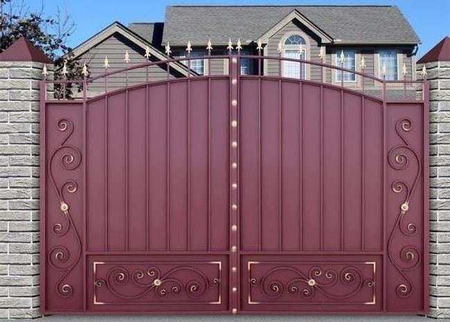 хочу купить метальческие ворота на участок горд волгограде и цену